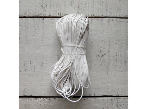 Вощеный шнур 1 мм белый