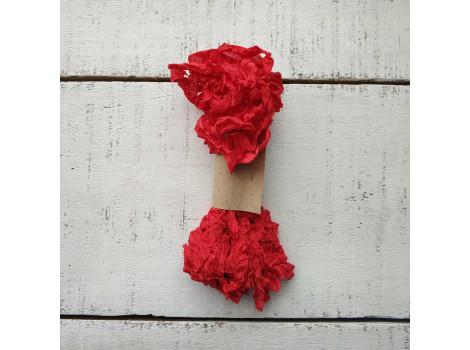 Шебби-лента ярко-красная