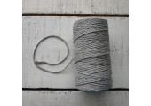 Шнур хлопковый 2 мм серый
