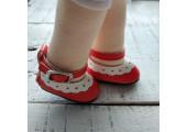 Туфельки с пряжкой 4.5 см красные