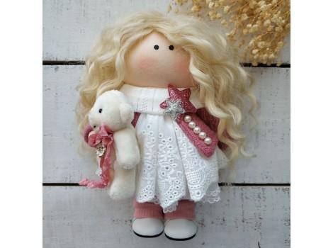 Трессы козочка натуральные кудрявые блонд №1 цена за 1м 60 см