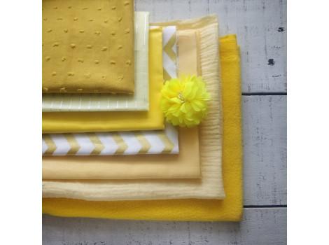 Набор тканей Желтые оттенки скидка 20%!