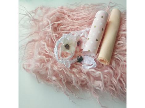 """Набор для самостоятельного пошива овечки с Мастер-классом """"Розовая пудра"""""""