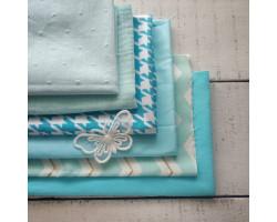 Набор тканей Голубые оттенки скидка 20%!