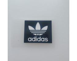 Термонаклейка Adidas листик черная