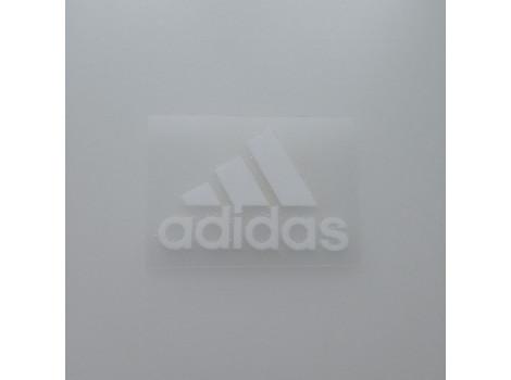 Термонаклейка Adidas полоски белая