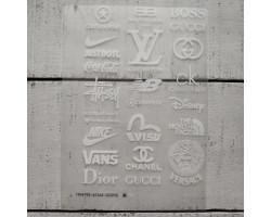 Термонаклейки Бренды №2 белые надписи