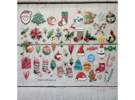 Термонаклейки Рождественские сапожки