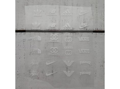 Термонаклейки Бренды №1 белые надписи