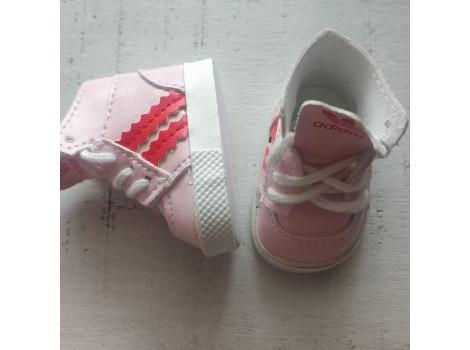 Кроссовки для кукол Adidas 5 см розовые