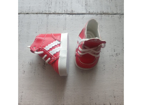 Кроссовки для кукол Adidas 5 см красные