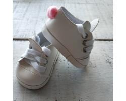 Ботиночки зайки 6 см белые