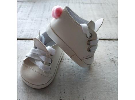 Ботиночки зайки 7 см белые