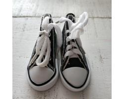 Кеды на шнурках 7 см черные