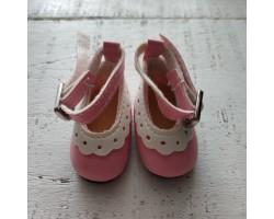 Туфельки с пряжкой 4.5 см розовые