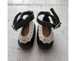 Туфельки с пряжкой 4.5 см черные