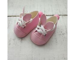 Ботиночки зайки 6 см розовые
