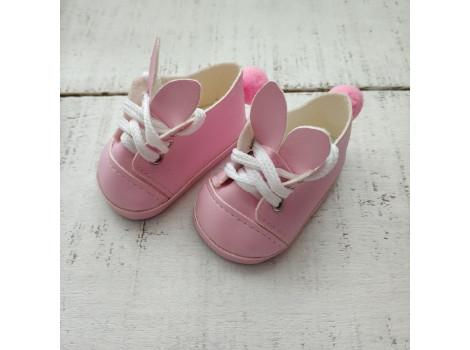 Ботиночки зайки 7 см розовые