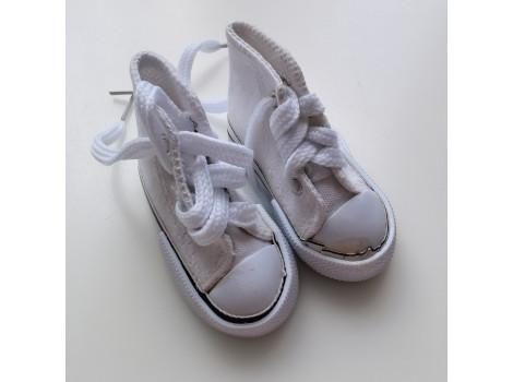 Кеды на шнурках 7 см белые УЦЕНКА!