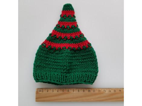 Шапочка колпак красно-зеленый