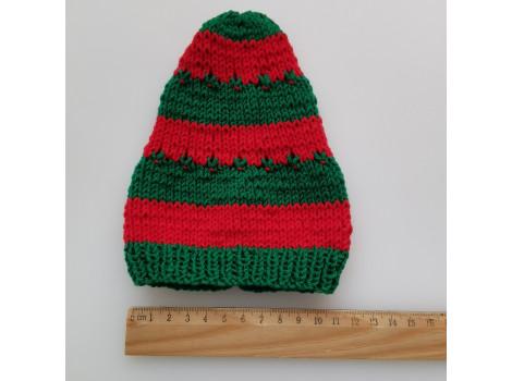 Шапочка колпак красно-зеленый (вариант 3)