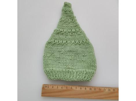 Шапочка колпак нежно-зеленый