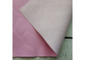 Экокожа тисненая розовая
