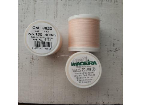 Нитки швейные Madeira Aerofil 120 под цвет персиково-телесного трикотажа
