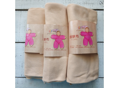 Трикотаж для тела кукол 45*90 см цвет светлый загар