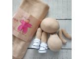 Трикотаж для тела кукол 45*45 см цвет светлый загар