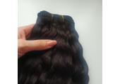Трессы из натуральной шерсти верблюда кудрявые коричнево-черные упаковка 2м