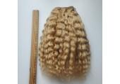 Трессы из натуральной шерсти яка кудрявые светлая карамель упаковка 2м