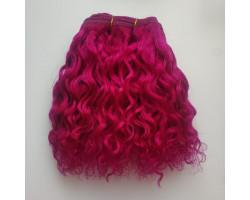 Трессы козочка натуральные кудрявые пурпурные №19 цена за 1.68 м