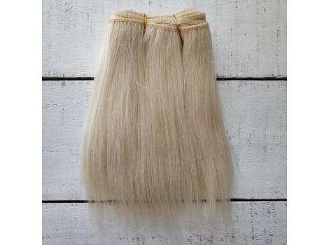 Трессы козочка натуральные прямые блонд №1 цена за 0.5 м