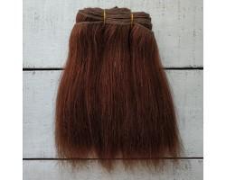 Трессы козочка натуральные прямые коричневые №7 цена за 0.63 м