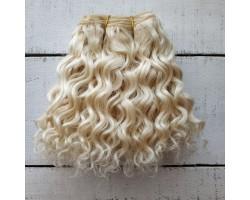 Трессы козочка натуральные кудрявые блонд №1 цена за 0.5 м