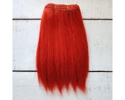 Трессы козочка натуральные прямые ярко-рыжие №4 цена за 0.5 м