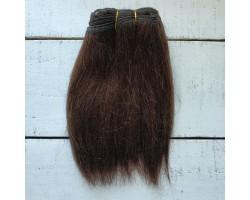 Трессы козочка натуральные прямые темно-коричневые №8 цена за 0.5 м