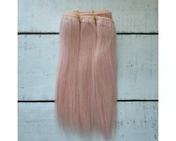 Трессы козочка натуральные прямые розовые №3 цена за 0.5 м