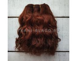 Трессы козочка натуральные кудрявые коричневые №7 цена за 0.5 м