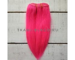 Трессы козочка натуральные прямые розовый Барби №16 цена за 1м 85см