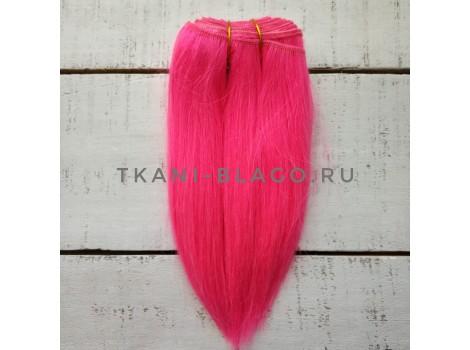 Трессы козочка натуральные прямые розовый Барби №16 упаковка 5 м