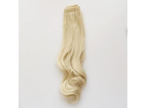 Трессы с волнистым кончиком 25 см блонд №HTY613