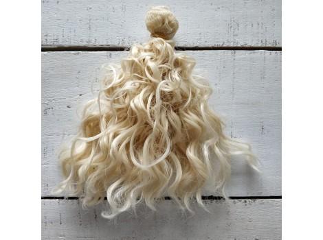 Трессы волнистые мокрые блонд №88