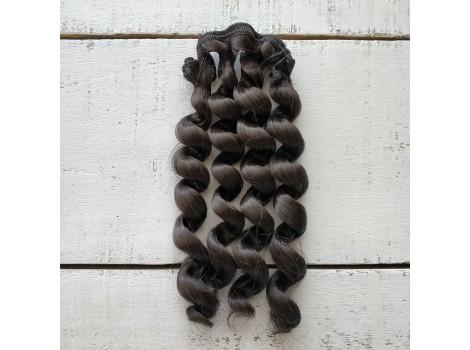 Трессы спиральки черно-коричневые №4A