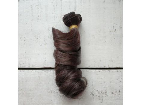 Трессы крупный локон темно-коричневые с отливом №4/33