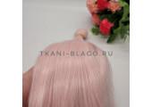 Трессы прямые 25 см мелированные розовые