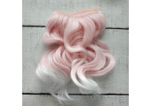 Трессы волны розовые с белым омбре №T2333T1001
