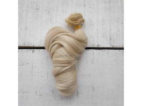 Трессы крупный локон платиновый блонд №Т0809
