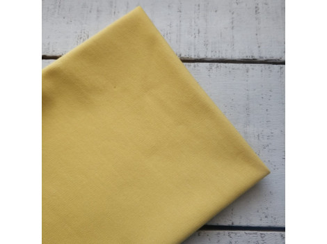 Трикотаж однотонный футер двунитка желтый